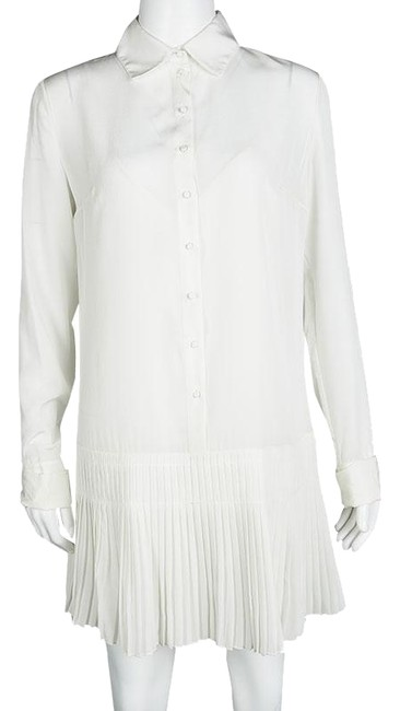 Preload https://item5.tradesy.com/images/dior-white-off-silk-pleated-bottom-long-sleeve-s-short-casual-dress-size-6-s-23833114-0-1.jpg?width=400&height=650