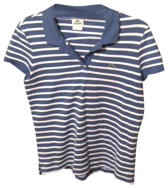 Preload https://img-static.tradesy.com/item/23833124/lacoste-blue-and-white-striped-polo-blouse-size-12-l-0-1-650-650.jpg