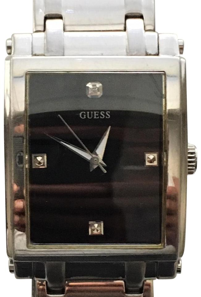 39d348366d5a Guess Guess Steel Men s Stainless Steel w  Black Diamond Dial Image 0 ...