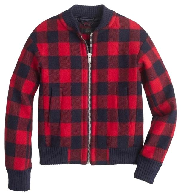 Item - Navy/Red Buffalo Check Plaid Bomber Jacket Size 10 (M)