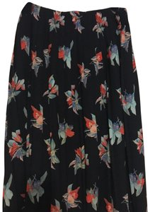 Ava & Viv Skirt navy with orange and light blue flowers