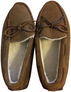 J.Crew Slippers Moccasin Slipper Suede Brown Mules
