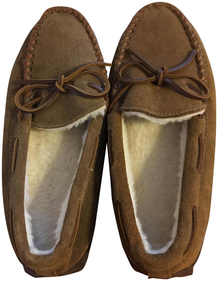 95e96859c1c5 J.Crew Brown Suede Moccasin Slippers Mules Slides Size US 8 Regular ...