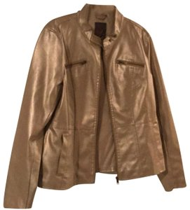 Frida Gold Leather Jacket