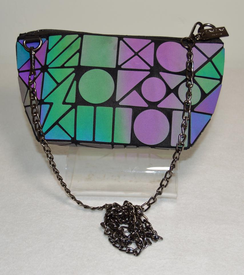 Cross Overflow Miyake Green Issey Bag Chain Purple Polyvinyl Body Colors with 81BBOxnW