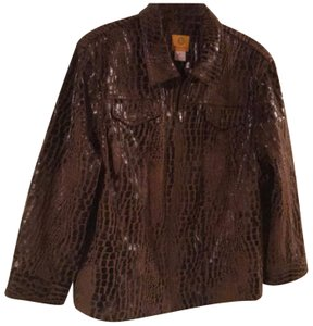 Ruby Rd. Brown Leather Jacket
