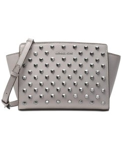 MICHAEL Michael Kors Medium Crossbody Saffiano pearl grey Messenger Bag