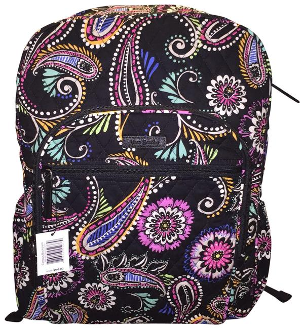 Item - Campus In Bandana Swirls Multicolor Cotton Backpack