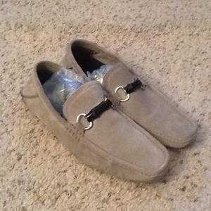 Gucci Gray Horsebit Bamboo Suede Loafers Amazing Shoes
