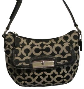 Coach Op Art Signature Kristin Op Art Shoulder Bag