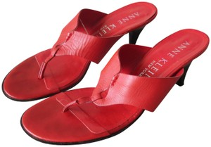 9e6f4aa1e91d Anne Klein Red Thong Slide Sandals Size US 7.5 Narrow (Aa