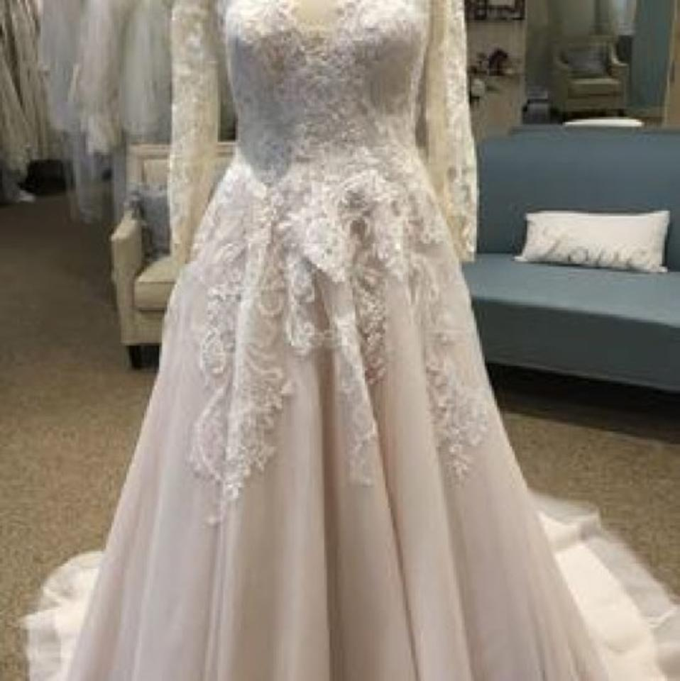 a2d42613ea5 Allure Bridals Champagne Tulle with Ivory Lace and Romance 3059 ...