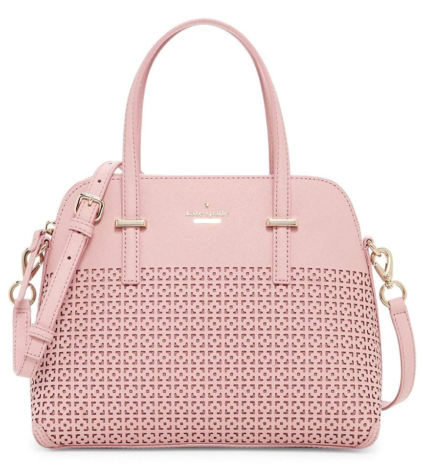 ddab2ff3cf Kate Spade New York Cedar Street Maise Perforated Pink Bonnet Leather  Satchel