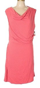 Kenar short dress Coral w/Light Purple Pattern on Tradesy