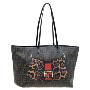 Fendi Canvas Print Tote in Brown