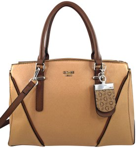 Guess Satchel in brown sand