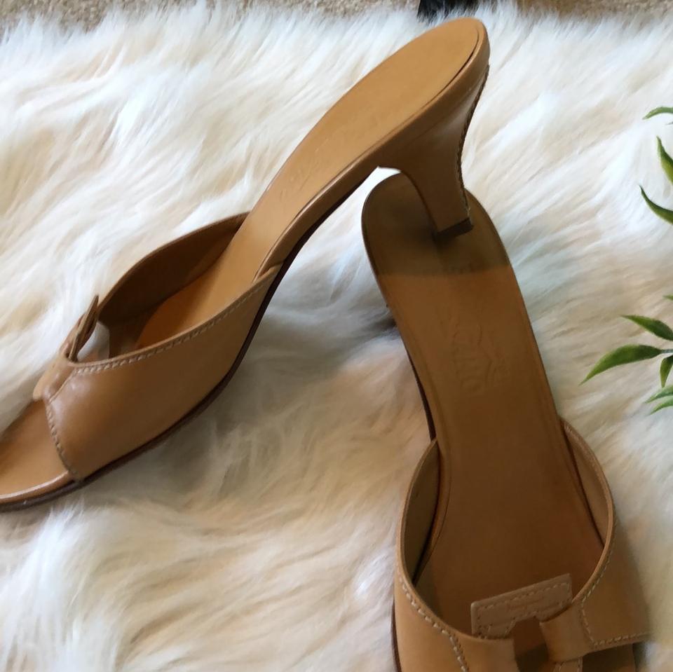 Pumps Toe Sandals Ferragamo Tan Open Camel Salvatore YwTzq0Y