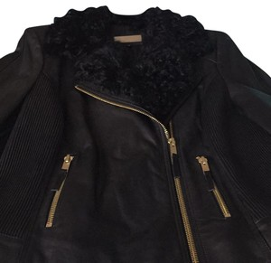 Wilsons Leather black with gold hardware Leather Jacket