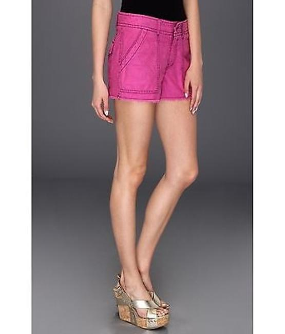 Free People Women Cargo Shorts Wild Violet