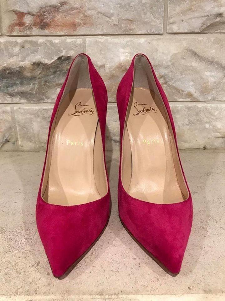 Stiletto Classic Pumps Follies Rosa Pink Pointed 100 Pigalle Suede Christian Heel Louboutin cBqSwW8BH