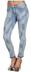 Hudson Jeans Hudson Crop Mid Rise Nico Super Skinny Zipper 27 Women Capri/Cropped Denim
