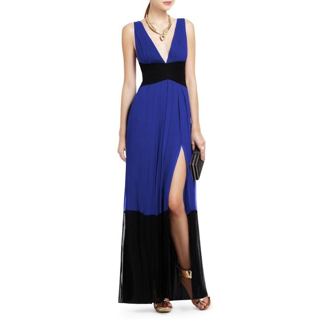 Item - Blue and Black Catarina Long Night Out Dress Size 6 (S)