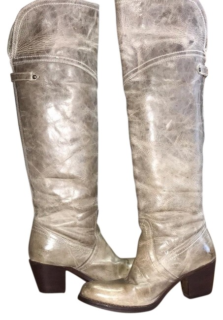 Item - Antique Olive Over The Knee Distressed Boots/Booties Size US 7 Regular (M, B)