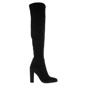 Tony Bianco Over The Knee Suede Leather Black Boots
