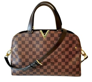 Louis Vuitton Kensington Lv Damier Shoulder Lv Shoulder Strap Satchel in Brown