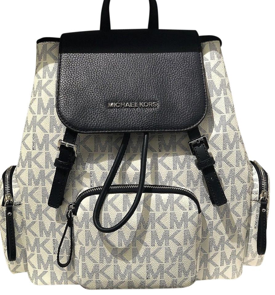 dabdcef941f2 ... large backpack book bag pvc leather black michaelkors backpackstyle  ba030 083e4; release date michael kors abbey abbey cargo adjustable straps  blue ...