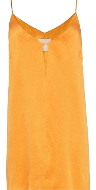 Item - Yellow Michelle Women's Silk Slip Short Night Out Dress Size 4 (S)