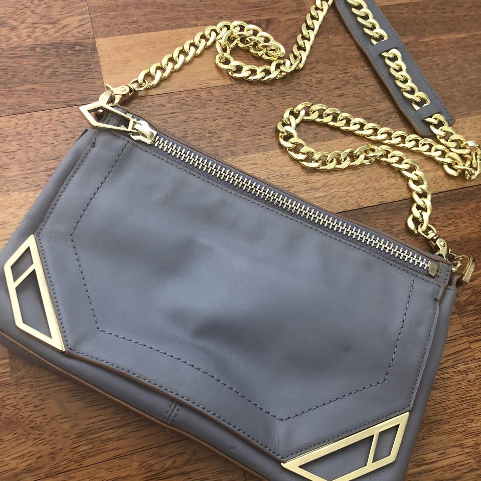 Body Dusty Gold Bag Hardware with Cross Chain Leather Blue Botkier wBdt8q8
