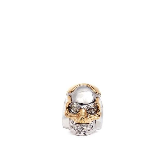 Preload https://img-static.tradesy.com/item/23836710/alexander-mcqueen-silver-tone-and-gold-tone-puzzle-skull-ring-0-2-540-540.jpg