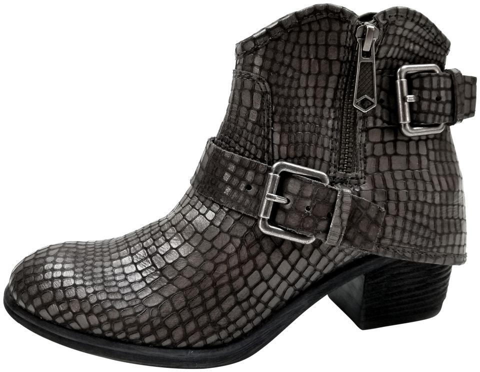 Donald Dalis J. Pliner Charcoal Dalis Donald Hooded Leather Belt Boots/Booties 9a7aa3