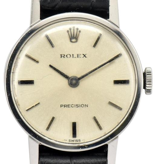 Preload https://img-static.tradesy.com/item/23836749/rolex-silver-vintage-precision-2649-stainless-steel-hand-winding-ladies-watch-0-2-540-540.jpg