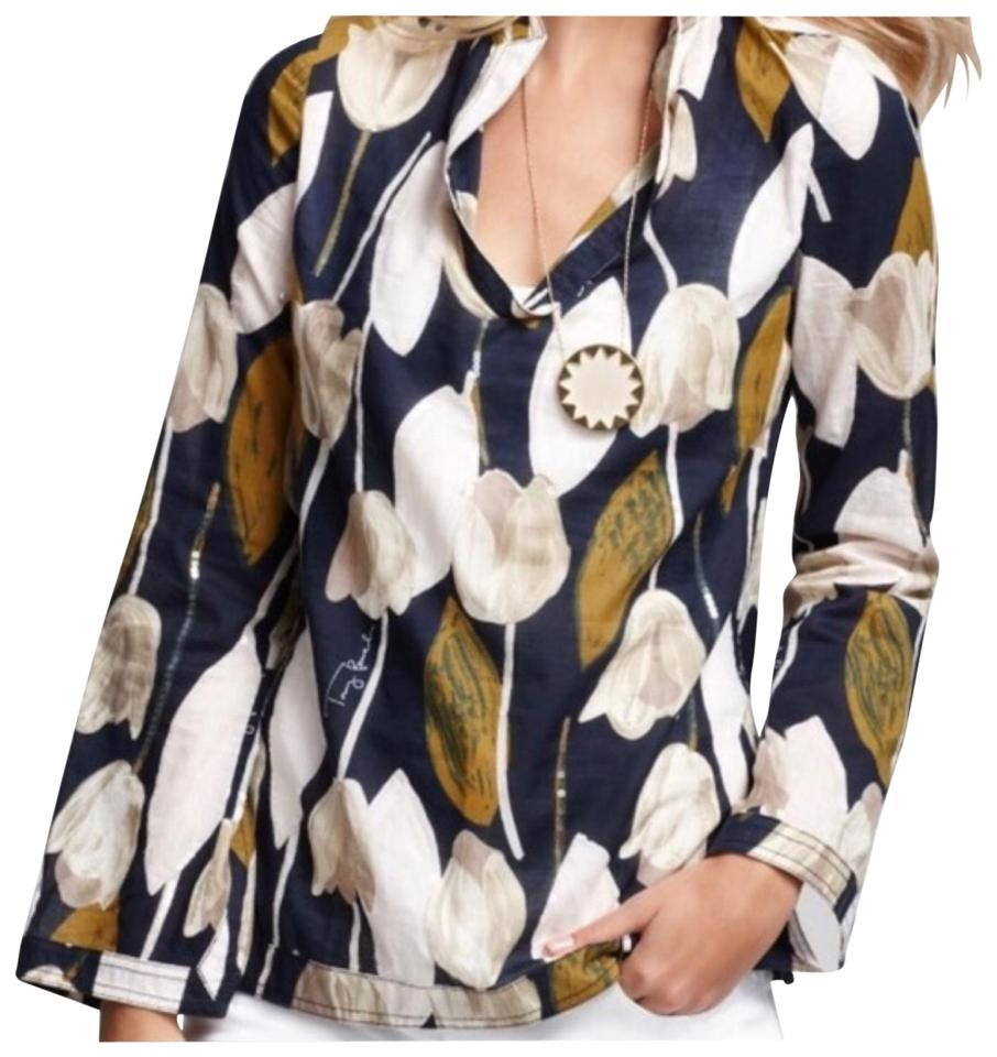 4fe5422be66 Tory Burch Blue Normandy Stephanie Tunic Size 0 (XS) - Tradesy
