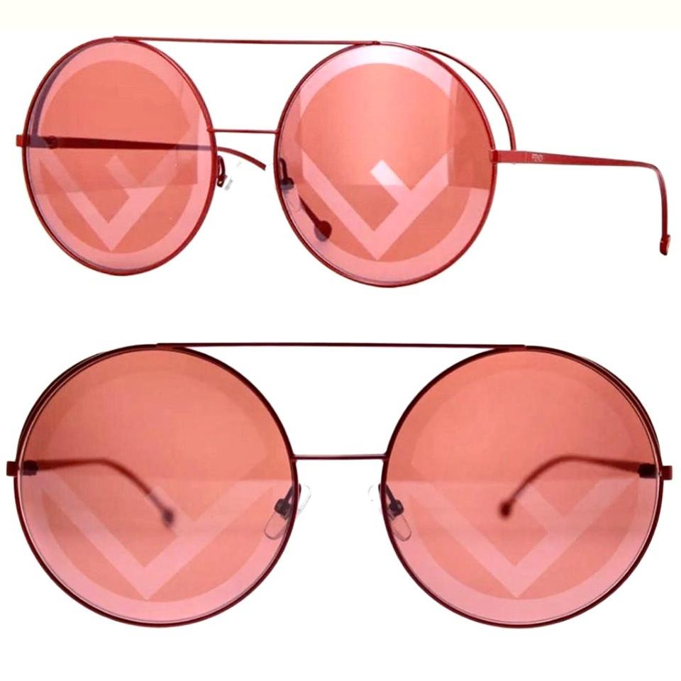 af00786aba86 Fendi Red Pink Round Runway Ff 0285s C9a 0l Sunglasses - Tradesy