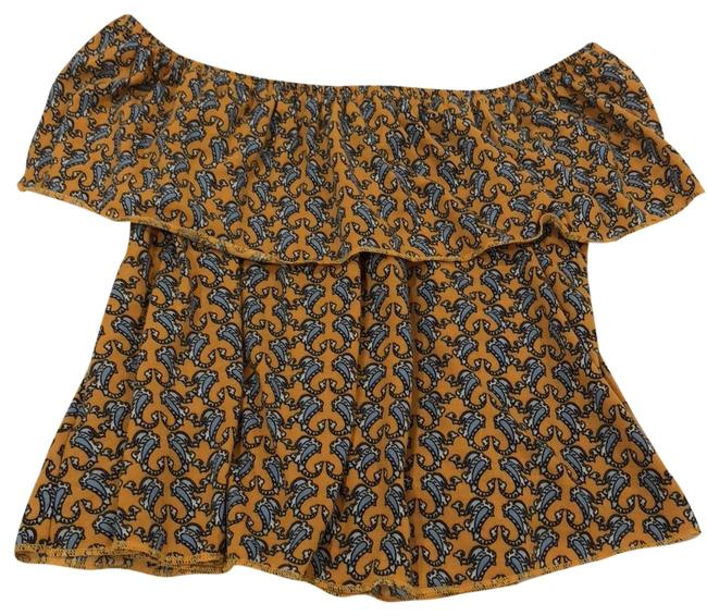 Item - Off The Shoulder Yellow Top
