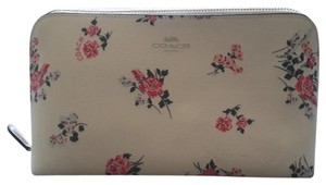 Coach Sweet Rose Patterned Cosmetic Bag