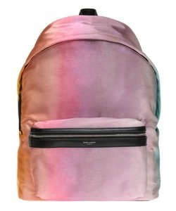 Saint Laurent Classic Shoulder Satin Tie Dye Backpack