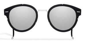 Dior NEW Dior Magnitude 01 Black Matte Round Mirrored Sunglasses