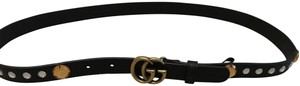 Gucci Crystal Belt With Double GG Buckle Size 34/85