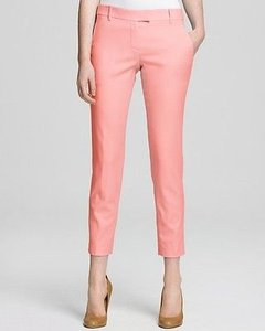 Theory Sienna Ankle Crop Neon Shell Wool Women Capri/Cropped Pants Pink