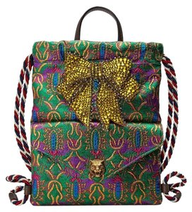 Gucci Shoulder Crystal Beaded Bow Backpack