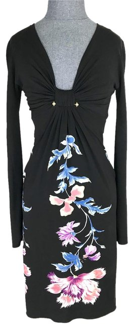 Preload https://img-static.tradesy.com/item/23837375/roberto-cavalli-black-long-sleeve-printed-flower-mid-length-cocktail-dress-size-4-s-0-1-650-650.jpg
