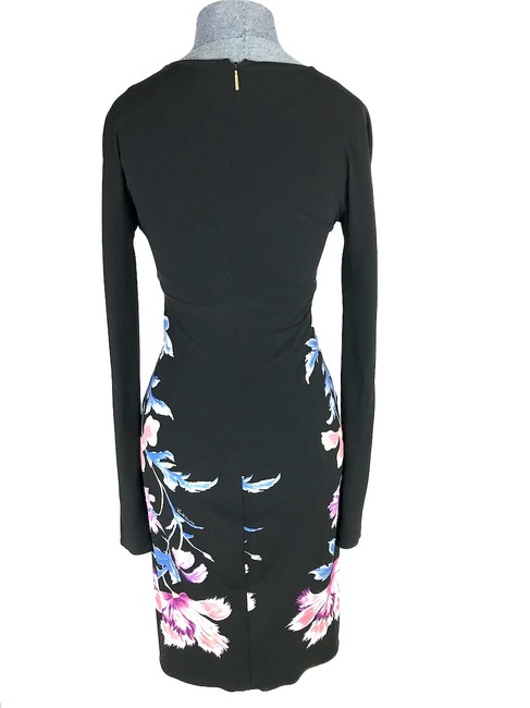 Roberto Cavalli Stretch Floral Longsleeve Dress Image 1