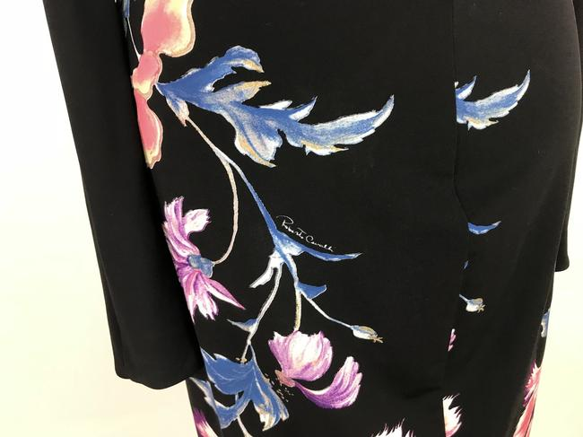Roberto Cavalli Stretch Floral Longsleeve Dress Image 6