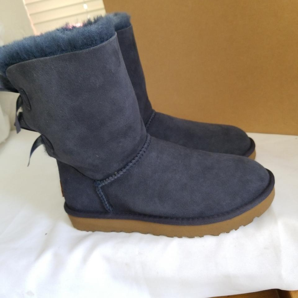 91d41a3e069 UGG Australia Navy Bailey Bow Ii Boots/Booties Size US 5 Narrow (Aa, N) 34%  off retail
