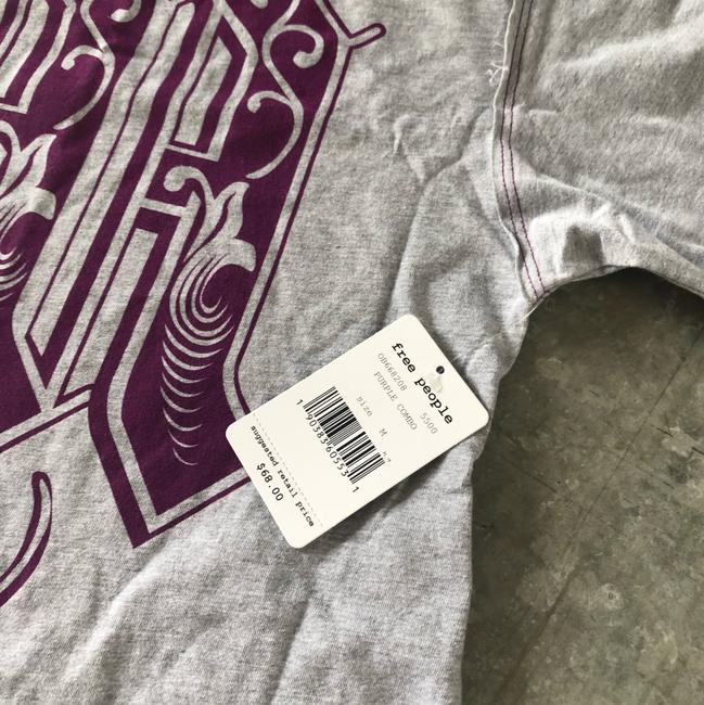 Free People T Shirt purple grey Image 4