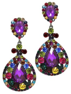 Other Rhinestone and Crystal Clip On Earrings
